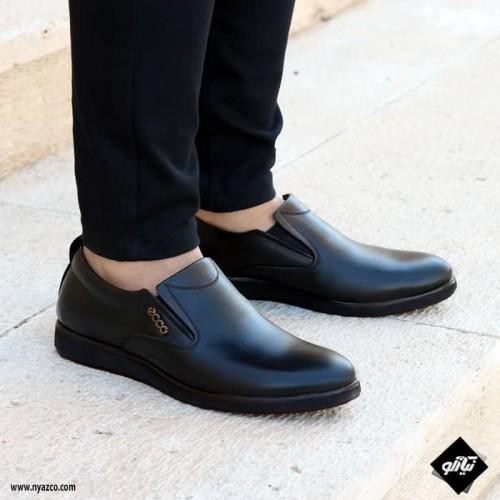 کفش چرم مردانه تبریز طرح اکو کشی