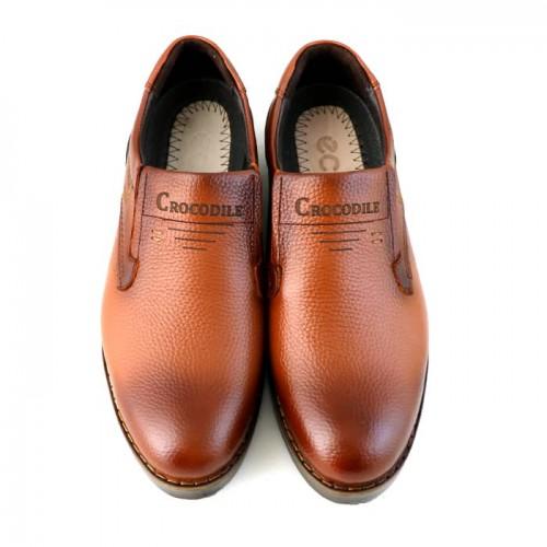 کفش چرم مردانه کروکودیل کشی
