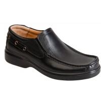 کفش مردانه آلفا کشدار چرم همپا