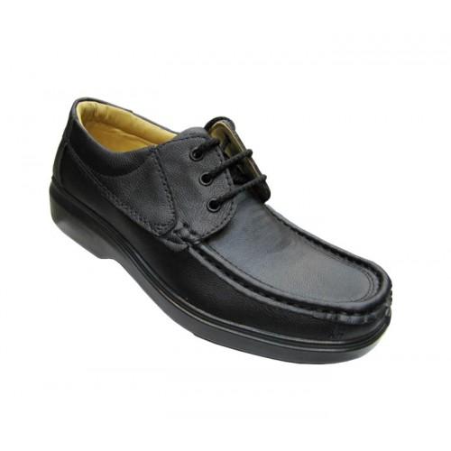 کفش مردانه آلفا بندی چرم مصنوعی جلال