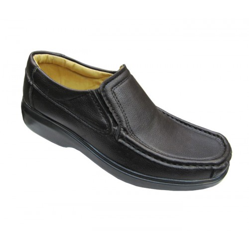 کفش مردانه آلفا کشدار چرم مصنوعی جلال